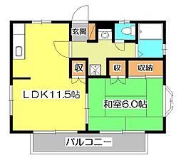 ユーハイム本町3[2階]の間取り