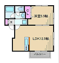神奈川県横浜市港北区日吉3丁目の賃貸アパートの間取り