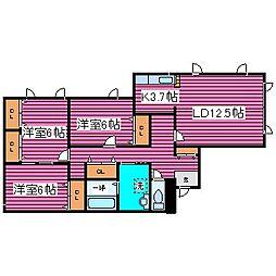 [タウンハウス] 北海道札幌市北区太平七条2丁目 の賃貸【/】の間取り
