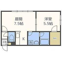 ステージノア東札幌[1階]の間取り