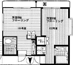 アメニティー鷹の台[1階]の間取り