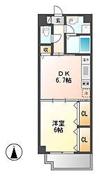 センチュリーパーク新川一番館[6階]の間取り