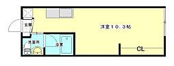 広島県広島市西区草津東1丁目の賃貸アパートの間取り