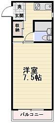長野県長野市若里2丁目の賃貸マンションの間取り
