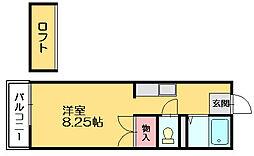 ルートピア篠栗[1階]の間取り