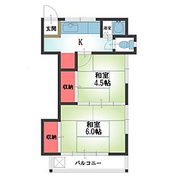 田中アパート[201号室]の間取り