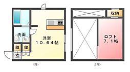 プリマカスターニャ 壱番館・弐番館[1階]の間取り
