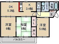 ジュネスト二番館[1階]の間取り