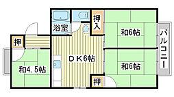 パレーシャル田寺[B102号室]の間取り