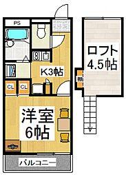 ブレス新倉[3階]の間取り