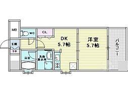 craft福島野田[6階]の間取り