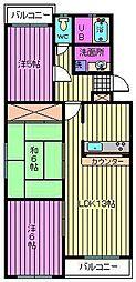 埼玉県さいたま市見沼区御蔵の賃貸マンションの間取り