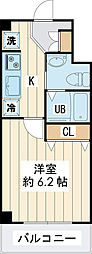 ジェラトーニ浦安 2階1Kの間取り