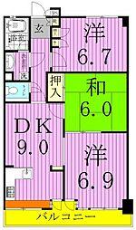 エスポワール八柱[6階]の間取り