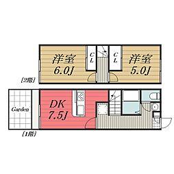 [タウンハウス] 千葉県成田市本城 の賃貸【千葉県 / 成田市】の間取り