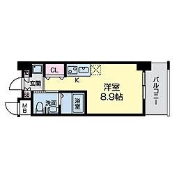 グレンパーク江坂II[0203号室]の間取り