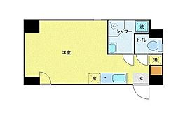 JR山手線 御徒町駅 徒歩3分の賃貸マンション 5階ワンルームの間取り