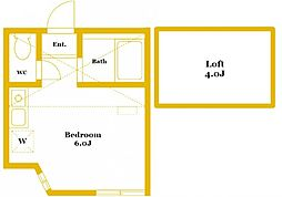 ユナイト黄金町セレーノ[1階]の間取り