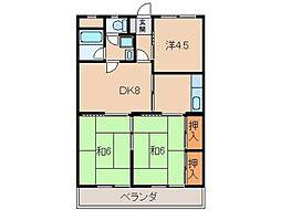 新中島エクセランス[5階]の間取り