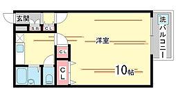 兵庫県神戸市中央区熊内町8丁目の賃貸マンションの間取り