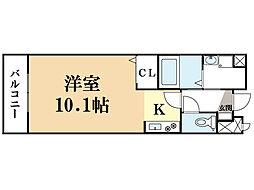 エアリーイースト[2階]の間取り