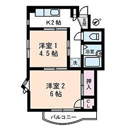 第2梨本マンション[3階]の間取り