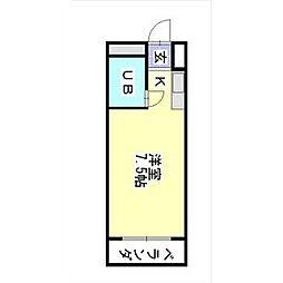 愛知県名古屋市千種区池下1丁目の賃貸マンションの間取り