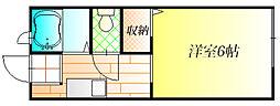 メゾンクレールS A[1階]の間取り