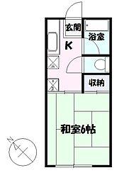 コーポユタカ[2階]の間取り