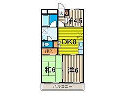 第2梅田コーポ[2階]の間取り