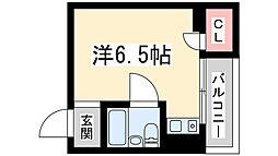 阪急京都本線 淡路駅 徒歩12分の賃貸マンション 2階ワンルームの間取り