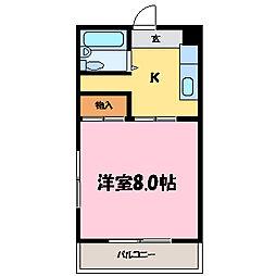 滋賀県大津市湖城が丘の賃貸マンションの間取り