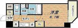ファステート玉造駅前ダミュウ[2階]の間取り