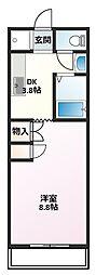 M Stage Ohmura[2階]の間取り