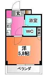 東京都北区十条仲原2の賃貸マンションの間取り