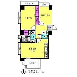 東京都港区白金5丁目の賃貸マンションの間取り