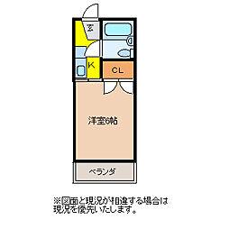 埼玉県東松山市大字西本宿の賃貸アパートの間取り