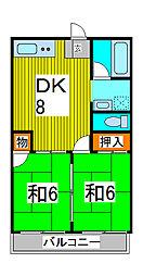 三矢ハイム[3階]の間取り