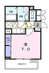 JR京浜東北・根岸線 川崎駅 バス19分 下新田下車 徒歩3分の賃貸アパート 2階1Kの間取り
