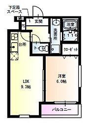 フジパレス瑞光駅東 3階1LDKの間取り