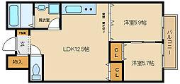 エクセル3[1階]の間取り