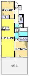 仮)国分寺市高木3丁目新築アパート[1階]の間取り