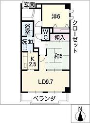 フレア稲垣[3階]の間取り