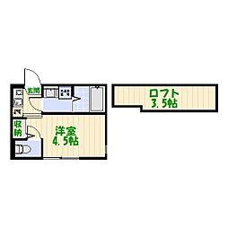 (仮称)柴又6丁目Aコーポ[0201号室]の間取り