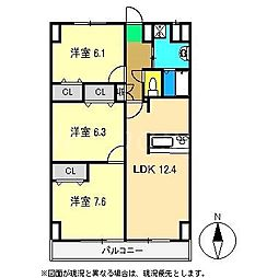 パル2[4階]の間取り