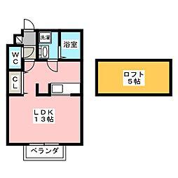 APリバーサイド[2階]の間取り