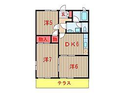 メゾンプルミエール(3DK[105号室]の間取り