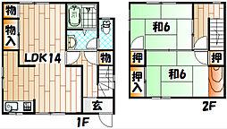 [一戸建] 福岡県北九州市戸畑区福柳木2丁目 の賃貸【/】の間取り