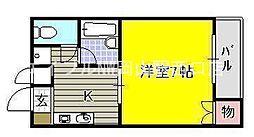 岡山県岡山市北区大和町1の賃貸マンションの間取り
