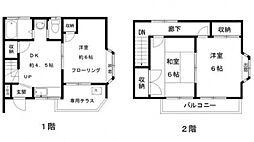 [テラスハウス] 東京都豊島区南長崎2丁目 の賃貸【/】の間取り